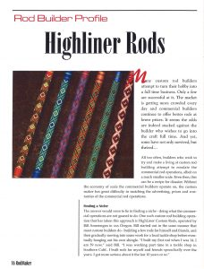 Highliner Custom Rods in Rodmaker Magazine page 1